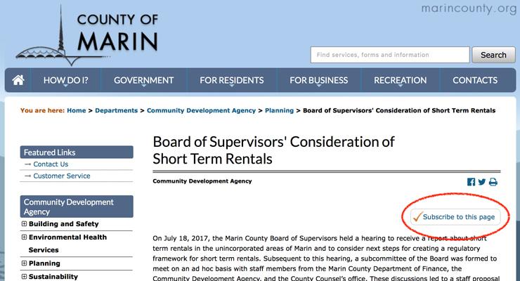County Considers Regulating Short Term Rentals