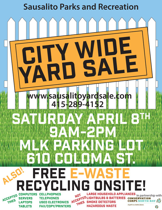 E-Waste Recycling Added to City Wide Yard Sale April 8