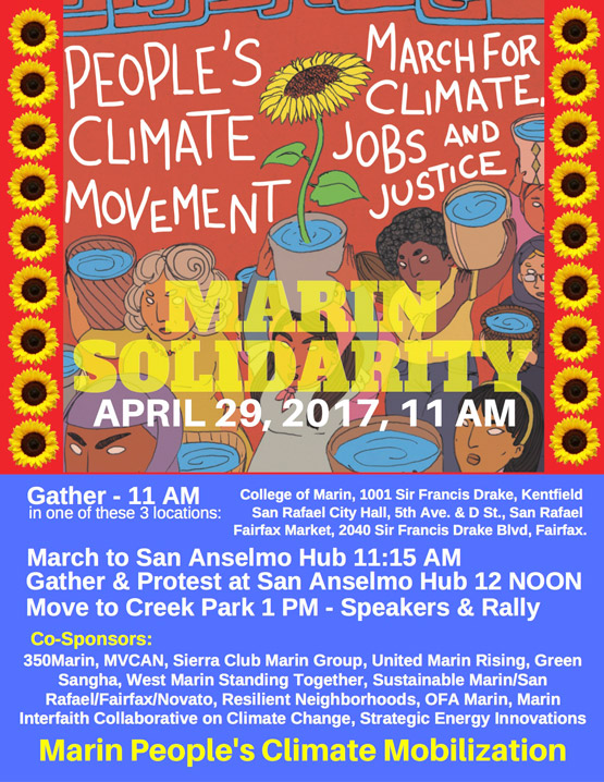 Marin People's Climate Mobilization, April 29